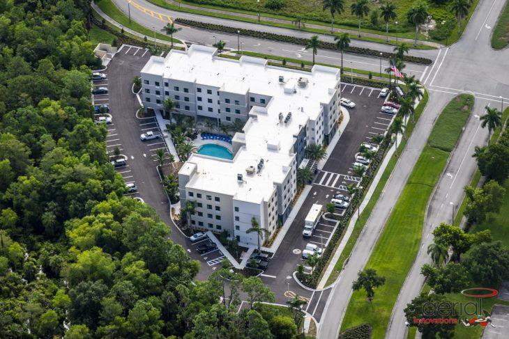 Staybridge Hotel aerial view