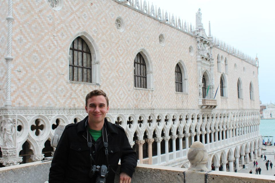 Caleb Melchior with camera